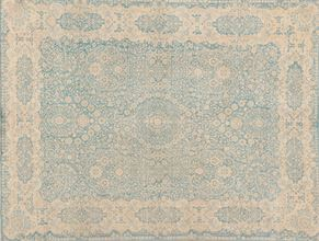 Tabriz 86515<div>9 x 12 9 x 11-10 Blue hand spun wool pile Hand-knotted in Pakistan rugs</div>