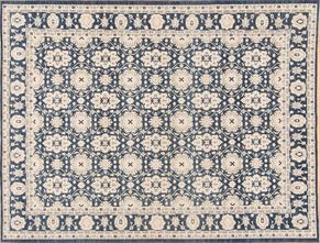 Tabriz 85464<div>9 x 12 9 x 11-10 Blue hand spun wool pile Hand-knotted in Pakistan rugs</div>
