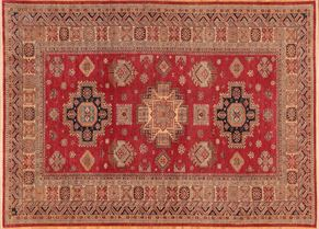 Kazak 77272<div>9 x 12 8-10 x 12-4 Red/Multi hand spun wool pile Hand-knotted in Pakistan rugs</div>