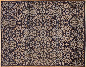 Oushak 85030<div>9 x 12 9 x 11-9 Navy/Multi hand spun wool pile Hand-knotted in Pakistan rugs</div>