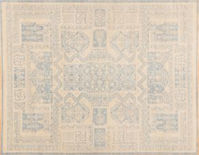 Tabriz 85482<div>9 x 12 9 x 11-9 Blue hand spun wool pile Hand-knotted in Pakistan rugs</div>