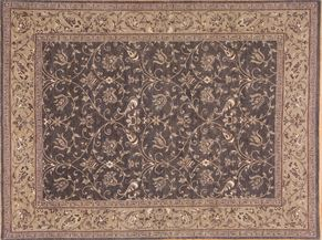 Sarouk 81213<div>9 x 12 9 x 12 Gray hand spun wool pile Hand-knotted in Pakistan rugs</div>