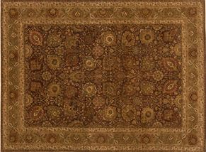 Tabriz 82448<div>9 x 12 9-1 x 12-5 Brown/Gold fine wool pile Hand-knotted in India rugs</div>
