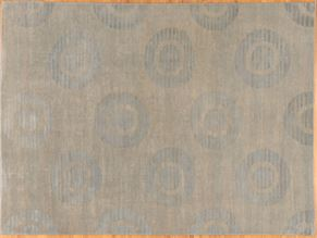 Contemporary 82699<div>9 x 12 9 x 12-2 Gray hand spun wool pile Hand-knotted in Pakistan rugs</div>