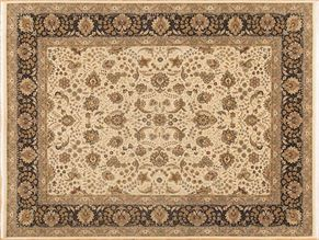 Tabriz 82505<div>9 x 12 9 x 11-8 Ivory/Black fine wool pile Hand-knotted in Pakistan rugs</div>