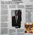 Zaki wins BB&T Distinguished Citizen of the Year Award